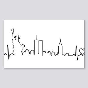 New York Heartbeat (Heart) Sticker